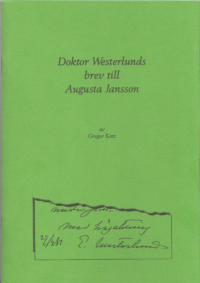 Doktor Westerlunds brev till Augusta Jansson